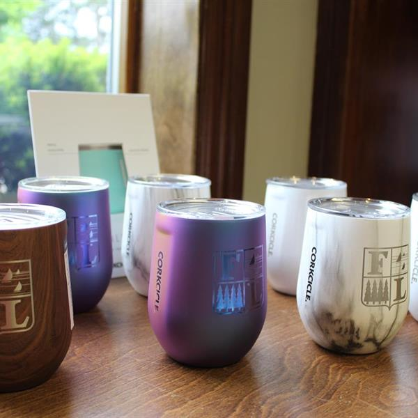 Stemless Wine Tumblers, now available in Unicorn Magic, Snow Drift, and Dragonfly